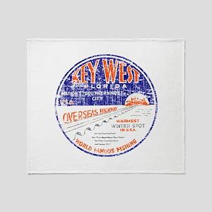 Vintage Key West Throw Blanket