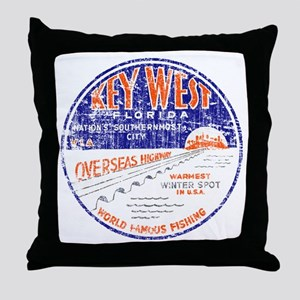 Vintage Key West Throw Pillow