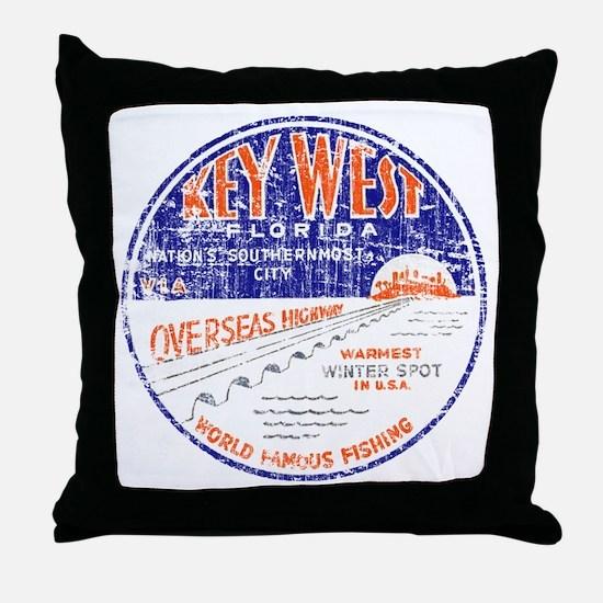 Vintage Key West Throw Pillow