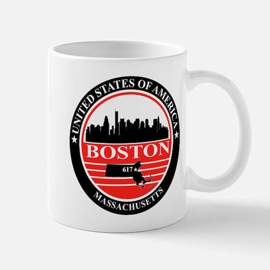 Boston logo black and red Mug