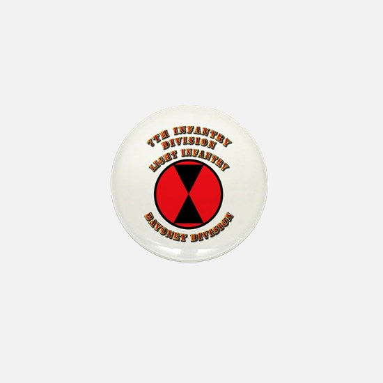 Army - Division - 7th Infantry Mini Button