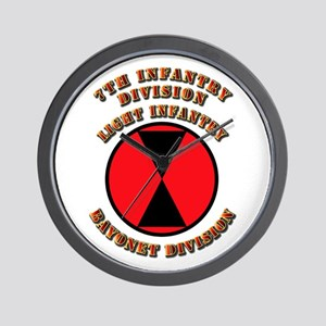 Army - Division - 7th Infantry Wall Clock