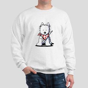 Heart Scarf Westie Sweatshirt