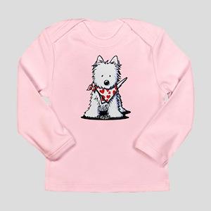 Heart Scarf Westie Long Sleeve Infant T-Shirt