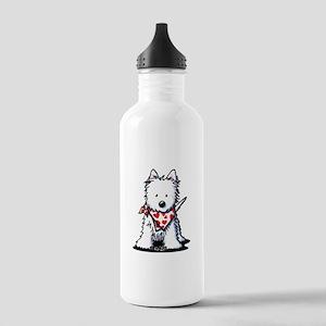 Heart Scarf Westie Stainless Water Bottle 1.0L