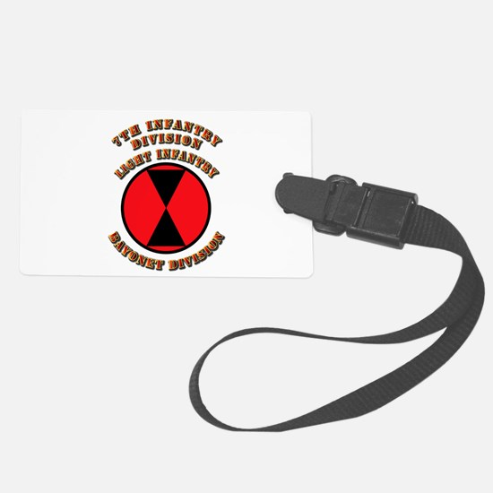 Army - Division - 7th Infantry DUI Luggage Tag