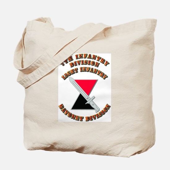 Army - Division - 7th Infantry DUI Tote Bag