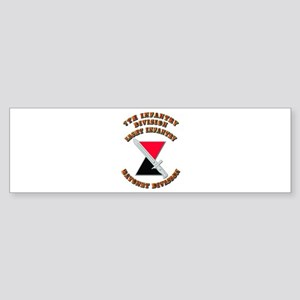 Army - Division - 7th Infantry DUI Sticker (Bumper