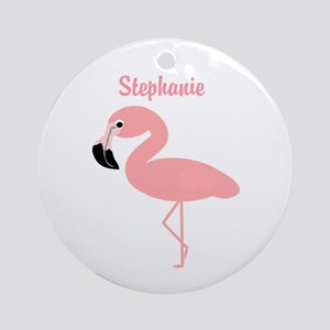 Personalized Flamingo Ornament (Round)