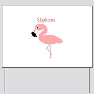 Personalized Flamingo Yard Sign