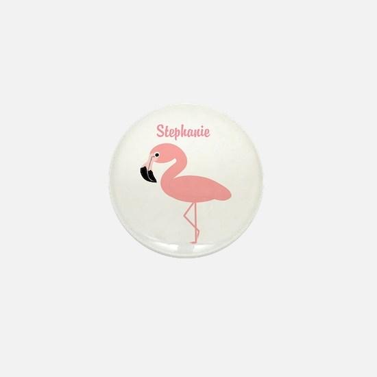 Personalized Flamingo Mini Button