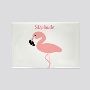 Personalized Flamingo Rectangle Magnet
