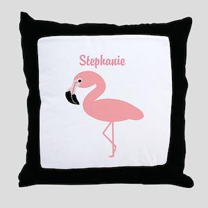 Personalized Flamingo Throw Pillow