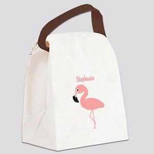 Personalized Flamingo Canvas Lunch Bag
