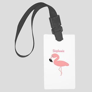 Personalized Flamingo Large Luggage Tag