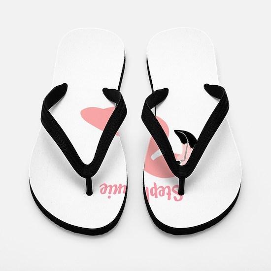 Personalized Flamingo Flip Flops