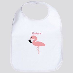 Personalized Flamingo Bib