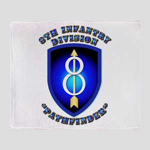 Army - Division - 8th Infantry Throw Blanket