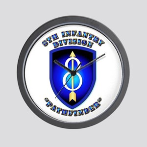 Army - Division - 8th Infantry Wall Clock