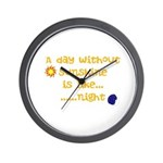 Day Like Night Wall Clock