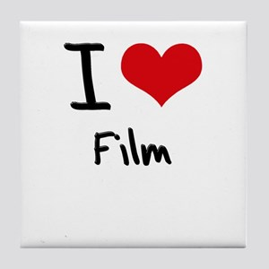 I Love Film Tile Coaster