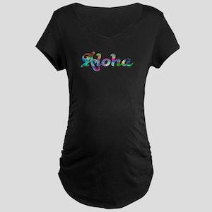 Aloha Rainbow Maternity T-Shirt