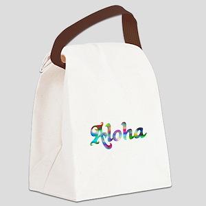 Aloha Rainbow Canvas Lunch Bag