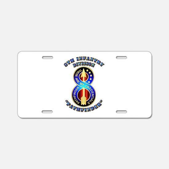 Army - Division - 8th Infantry DUI Aluminum Licens