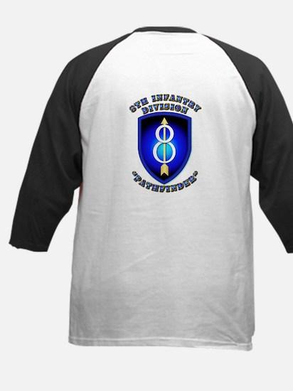 Army - Division - 8th Infantry DUI Kids Baseball J