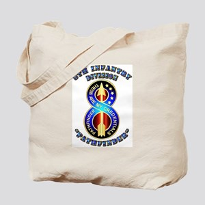 Army - Division - 8th Infantry DUI Tote Bag