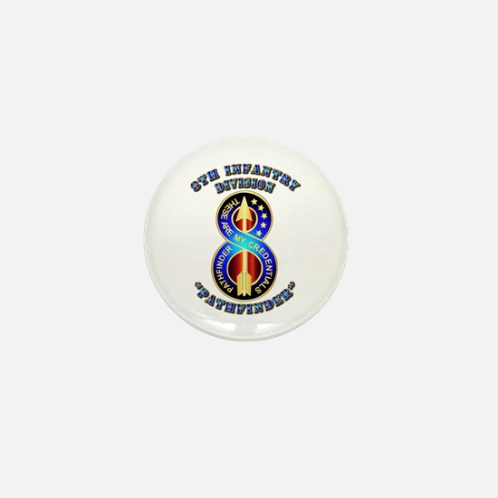 Army - Division - 8th Infantry DUI Mini Button