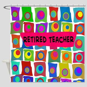 retired teacher 2 Shower Curtain