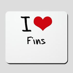 I Love Fins Mousepad