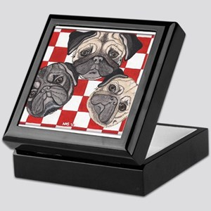 Pug n' picnic by Artwork by NikiBug Keepsake Box