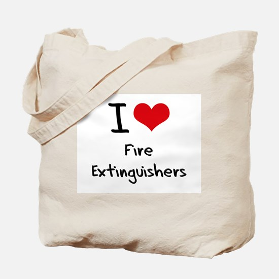 I Love Fire Extinguishers Tote Bag