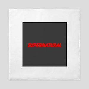 Red Supernatural ~ Queen Duvet