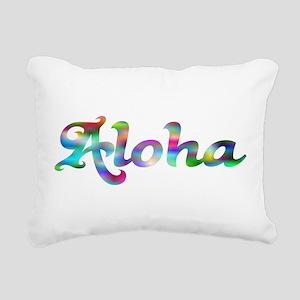 Aloha Rainbow Rectangular Canvas Pillow