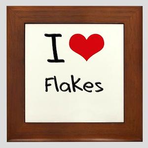 I Love Flakes Framed Tile