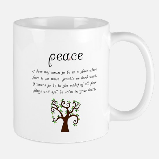 Peace Mantra Mugs