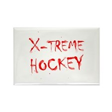 X-treme Hockey Rectangle Magnet