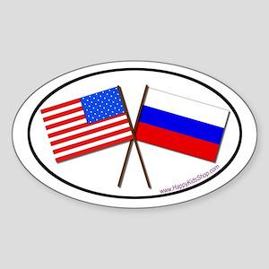 Oval Sticker USA/Russia