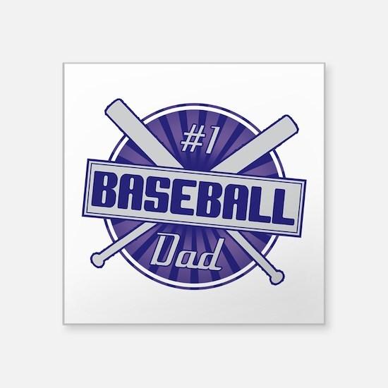 #1 Baseball Dad Sticker