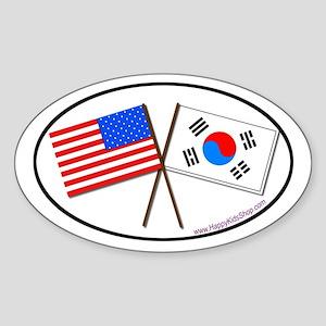 Oval Sticker USA/Korea