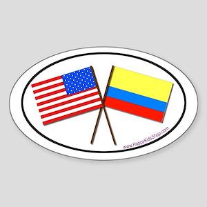 Oval Sticker USA/Colombia