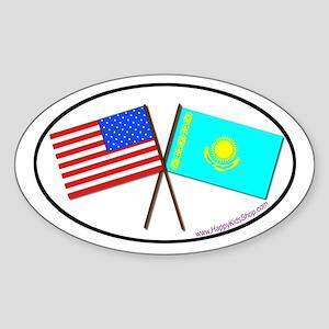 Oval Sticker USA/Kazakhstan