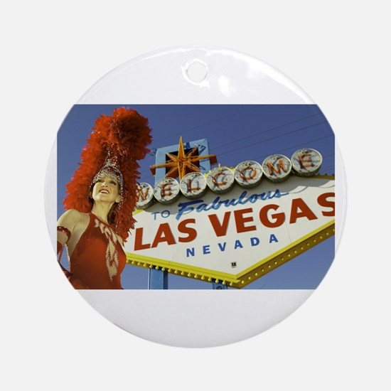 Las Vegas Showgirl Ornament (Round)