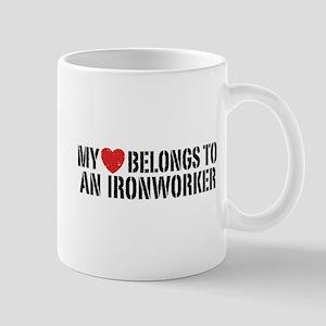 My Heart Belongs To An Ironworker Mug