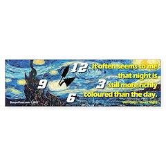 Starry Night Time Van Gogh Bumper Bumper Sticker