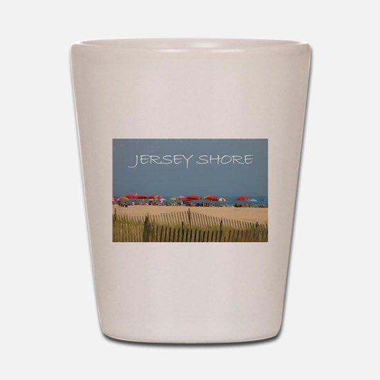 Jersey Shore Beach Umbrellas Shot Glass