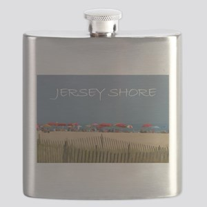 Jersey Shore Beach Umbrellas Flask